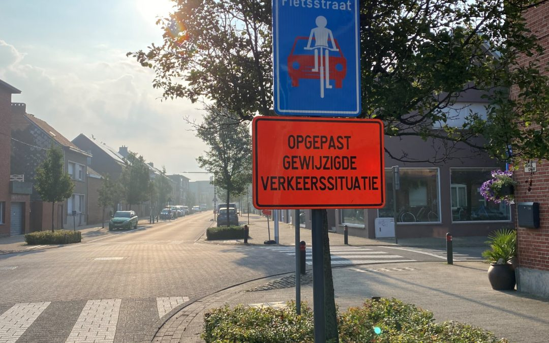 Zone van fietsstraten en 30 km/u in dorpskern